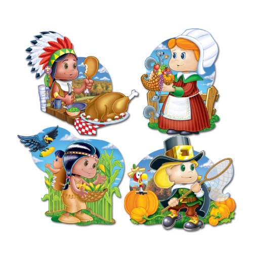 Pkgd Thanksgiving Kiddie Cutouts   (4/Pkg)