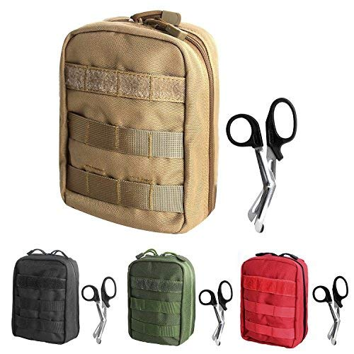 Tactical MOLLE EMT Medical First Aid IFAK Utility Pouch Bag (TAN)