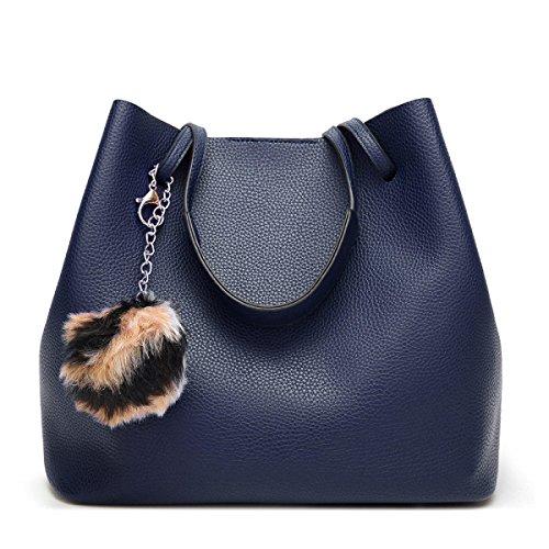 Bags Blue Bags Hand Tide Mock Line Shoulder Crossbody Litchi La Moda Blue Sra wZRUff
