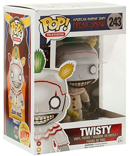Funko Pop! TV: American Horror Story- Season 4 – Twisty the Clown Vinyl Figure (Bundled with Pop BOX PROTECTOR CASE)