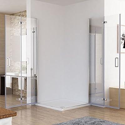 100 X 80 X 197 Cm cabinas de ducha esquina. Ducha Puerta plegable 180º Mampara de ducha con ducha Taza ducha bañera: Amazon.es: Bricolaje y herramientas