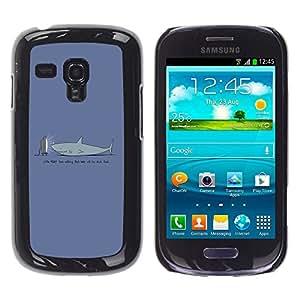 LECELL--Funda protectora / Cubierta / Piel For Samsung Galaxy S3 MINI 8190 -- TV Divertido Tiburón --