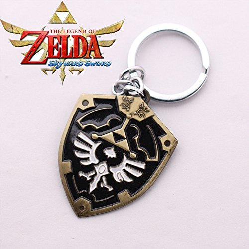 Generic New Arrivals Legend of Zelda Logo Keychain 54.5cm Fashion Alloy Shield Exquisite Key Ring - Exquisite Key Ring