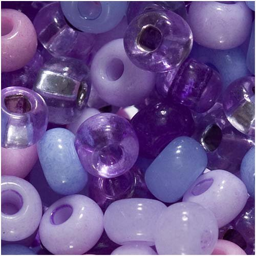Czech Seed Beads 6/0 ''Purple Parasols'' Mix (1 -