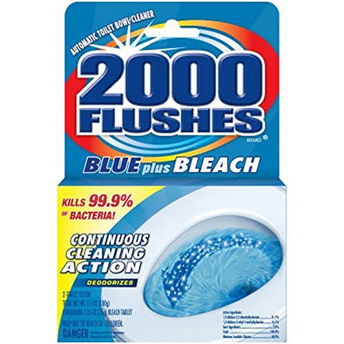 2000 Flushes 208017 Blue Plus Bleach Antibacterial Automatic Toilet Bowl Cleaner 3.5 OZ (Pack of 1)