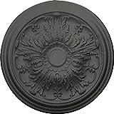 Ekena Millwork CM20DASGS Damon Ceiling Medallion fits Canopies up to 3 3/8'', Steel Gray