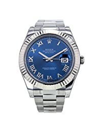 Rolex Datejust 2 Oyster Factory Original Silver Diamond Dial Mens Watch 116334 (Certified Pre-owned)
