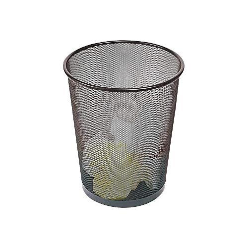 Staples Brighton Professional Black Wire Mesh Round Wastebasket, 5 gal.