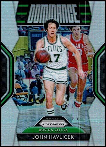- 2018-19 Prizm Dominance Silver Prizms Basketball #30 John Havlicek Boston Celtics Official NBA Trading Card From Panini America