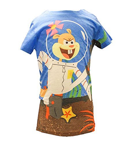 Nickelodeon Universe Spongebob Squarepants Sandy Cheeks Girls Tee (Medium)