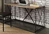 1PerfectChoice Jodie Industrial Chain Design Home Office Writing Computer Executive Desk Metal