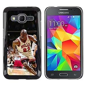 iKiki Tech / Estuche rígido - 23 Bull Baloncesto - Samsung Galaxy Core Prime