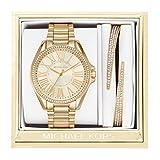 Michael Kors Women's Kacie Gold-Tone Watch and Bracelet Gift Set MK3568