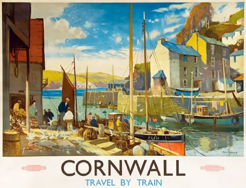TU83 Vintage Cornwall British Railway Travel Poster Re-Print - A2+ (610 x 432mm) 24