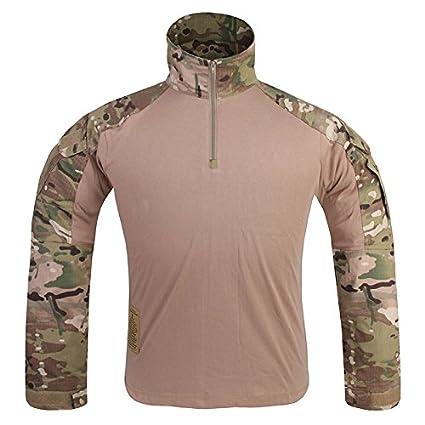 IDOGEAR G3 Combat Shirt Rapid Assault Long Sleeve Tactical Airsoft Clothing  Military Paintball Gear Multicam Camouflage 9e62264530c
