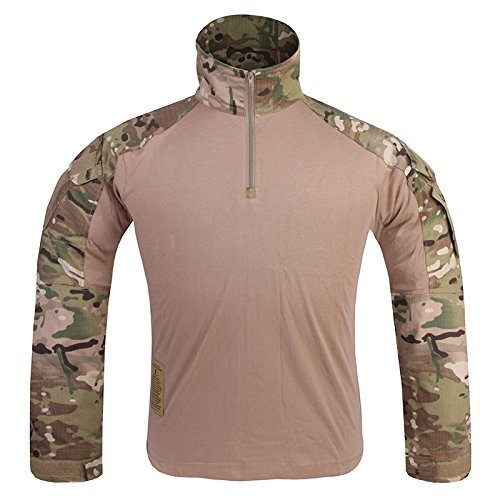 G3 Combat Shirt Rapid Assault Long Sleeve Tactical Airsoft Clothing Military Paintball Gear MultiCam Camouflage (S, (National Team Woven Jacket)