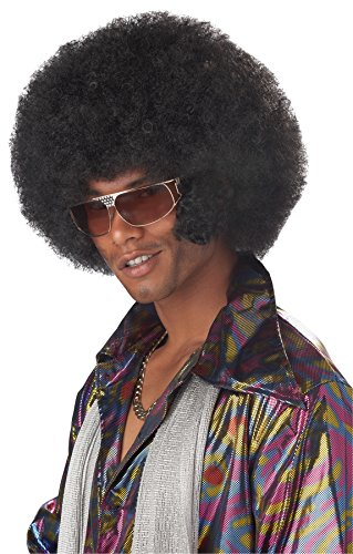 [UHC Men's Afro Chops Synthetic Fiber Wig Adult Halloween Costume Accessory] (Afro Chops Wig)