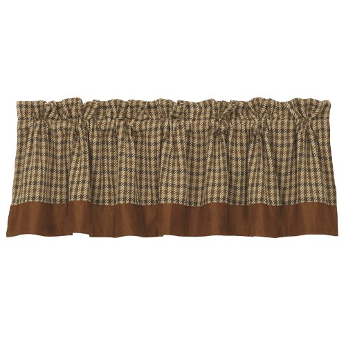 HiEnd Accents Crestwood Houndstooth Lodge Valance ()