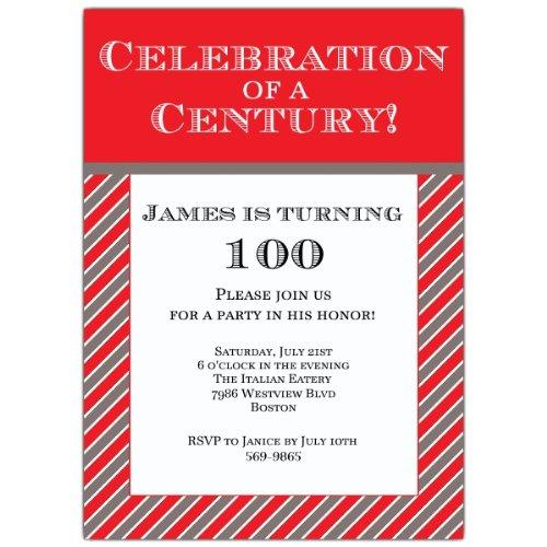 Amazon Celebration Of A Century 100Th Invitations Health Personal Care