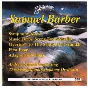 Essays On English Language Samuel Barber Andrew Schenck New Zealand Symphony Orchestra  Samuel  Barber Symphony No   Essay No   Adagio For Strings  Music For A  Scene From  Sample Essays For High School also Science Topics For Essays Samuel Barber Andrew Schenck New Zealand Symphony Orchestra  Essay Format Example For High School