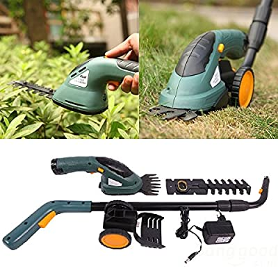 3.6V 2 In 1 Electric Cordless Grass Shear Clipper Hedge Trimmer Power Tool