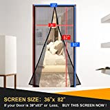 Magnetic Screen Door  Curtain Full Frame Velcro Mosquito Net,Close Automatically Tightly Keep Bugs Out,Lets Fresh Air In,Toddler And Pet Friendly (39''x83''Fit door up to36''x82'' Max-Brown)