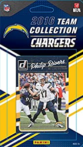 San Diego Chargers 2016 Donruss Factory Sealed Team Set with Philip Rivers, LaDainian Tomlinson, Antonio Gates, Rookie cards of Hunter Henry and Joey Bosa plus
