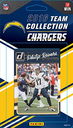 San Diego Chargers 2016 Donruss Factory Sealed Team Set with Philip Rivers, LaDainian Tomlinson, Antonio Gates, Rookie cards of Hunter Henry and Joey Bosa - San Antonio Ingram