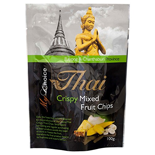 My Choice Thai, Crispy Mixed Fruit Chips, net weight 100 g (Pack of 1 piece) / Beststore by KK