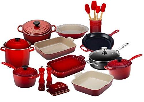 Le Creuset 23 Piece Complete Kitchen Set (Cerise)