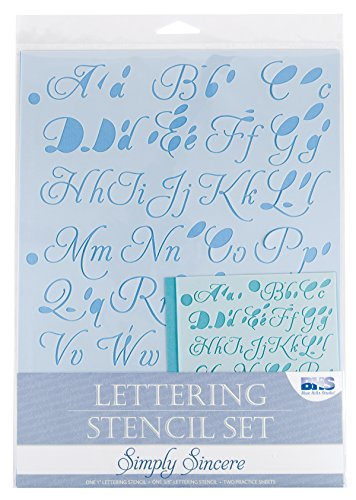 Blue Hills Studio- Lettering Stencil 4pc Set