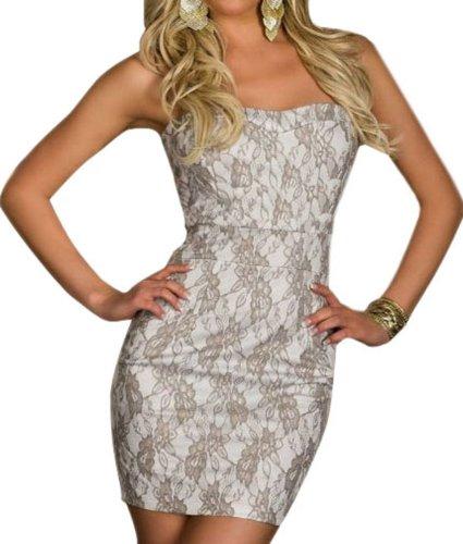 Pinkyee PKY1509150654 - Vestido para mujer 140552-Silver