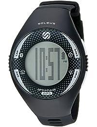 'Soleus GPS Pulse BLE' Quartz Black Fitness Watch (Model: SG013-004)