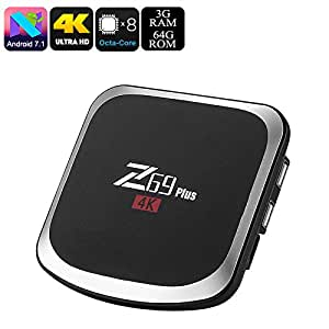 Generic Z69 Plus Android TV Box - Octa-Core, 3GB RAM, Android 7. 1. 2, 3D Media Support, 4K Support, Bluetooth 4. 1, WiFi, Google Play