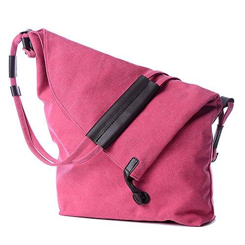 BYD - Mujeres School Bag Bolsos totes Bolsa de viaje Bucket Bag Canvas Bag Carteras de mano Bolsos bandolera Shopping Bag with Multi Strap and Fashion Design Rosa