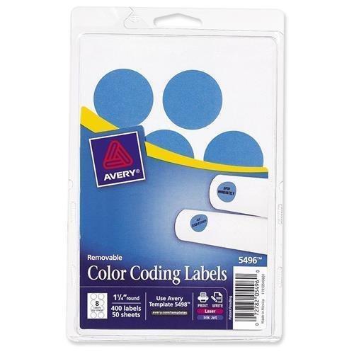 2020LB Avery Round Color Coding Multipurpose Label - 1.25