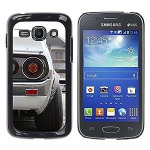 Caucho caso de Shell duro de la cubierta de accesorios de protección BY RAYDREAMMM - Samsung Galaxy Ace 3 - Blanca Datsun