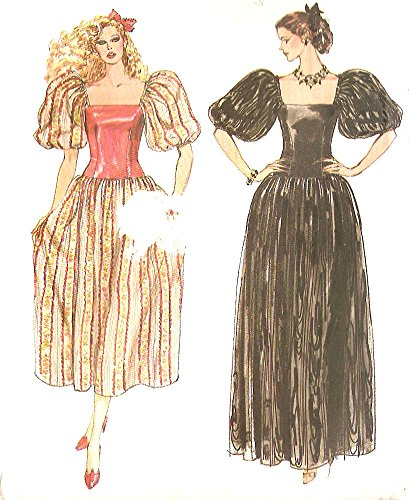 (Vogue 8152 Misses Puffy Sleeve Evening Dress Vintage Sewing Pattern Check Offers for Size)