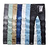 Men's Jeans Solid Color Stretch Skinny Jeans Feet