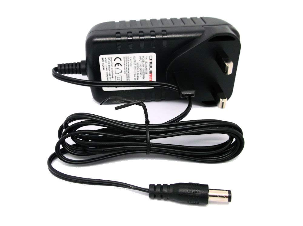Silverline 15V 2a AC-DC UK 5.5mmx2.5mm power supply adaptor quality charger