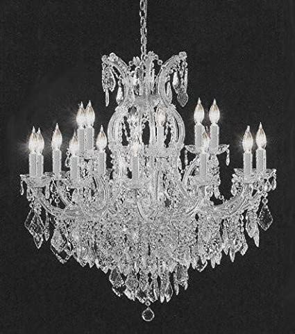 Chandelier Made With Swarovski Crystal Crystal Chandelier H38 W37 Amazon Com