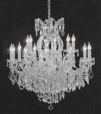 f1817a360a50 Swarovski Crystal Trimmed Chandelier! Crystal Chandelier H38