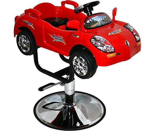 LCL Beauty Children's Red Sports Car Hydraulic Cutting & Styling Chair by LCL Beauty