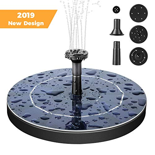 Mademax Solar Bird Bath Fountain Pump, 2.5W Solar Fountain with Battery Backup, Free Standing Solar Powered Water Fountain Pump for Bird Bath, Garden, Pond, Pool, Outdoor