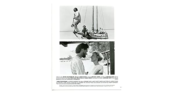 MOVIE PHOTO: Jaws The Revenge-8x10-B&W-Still-Guest-Caine-Gray-Van Peebles-NM at Amazons Entertainment Collectibles Store