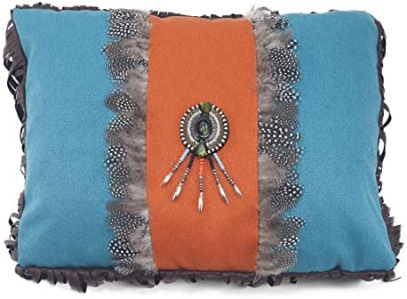 Carstens Turquoise Orange Medallion Pillow