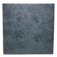nexxt Luxe Wall Panel Headboard, 18 by 18-Inch, Set of 8, Grey Faux Suede