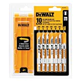 DEWALT U-Shank Jig Saw Blade Set with Case, 10-Pieces