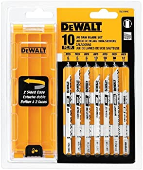 DEWALT DW3744C DEWALT 10-piece Jig Saw Blade Set