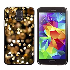 Planetar® ( Lights Night City Gold Glitter Focus Blurry ) SAMSUNG Galaxy S5 V / i9600 / SM-G900F / SM-G900M / SM-G900A / SM-G900T / SM-G900W8 Fundas Cover Cubre Hard Case Cover